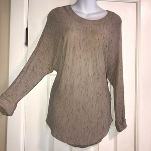Final Touch CUFFED LS Knit Tunic Top- Small